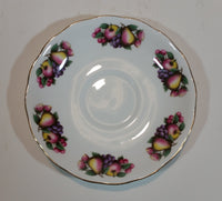 1959-1964 Queen Anne Bone China Fruit Pattern 8248 Teacup and Saucer
