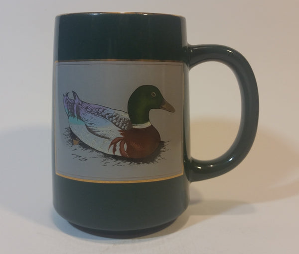 Vintage Otagiri Gibson Greetings Mallard Duck Gold Engraved Coffee Mug - Treasure Valley Antiques & Collectibles