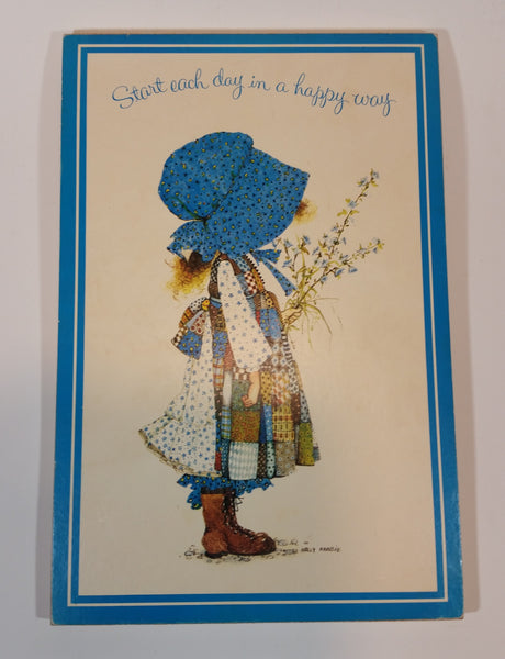 1974 Holly Hobbie Carlton Cards Blue Girl Wall Plaque Picture - Treasure Valley Antiques & Collectibles