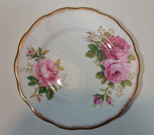 1950s Royal Albert American Beauty Pink Roses Side Salad Plate