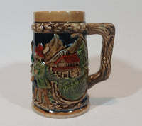 Early 1950s Gift Craft Japan Drinking Bavarian Friends Porcelain Stein Numbered 384 - Treasure Valley Antiques & Collectibles