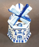 Vintage Handpainted Delft Blue Windmill Decoration - Treasure Valley Antiques & Collectibles