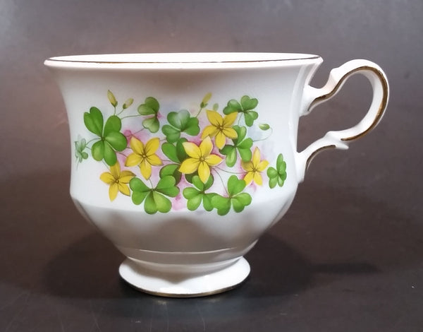 1959-1964 Queen Anne Pattern 8615 Yellow and Pink Floral with Clovers Bone China Teacup