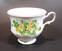 1959-1964 Queen Anne Pattern 8615 Yellow and Pink Floral with Clovers Bone China Teacup - Treasure Valley Antiques & Collectibles