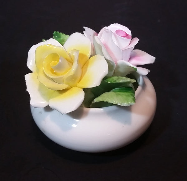 1960s The Princess Collection Bone China Handmade Floral Rose Bouquet - Staffordshire - Treasure Valley Antiques & Collectibles