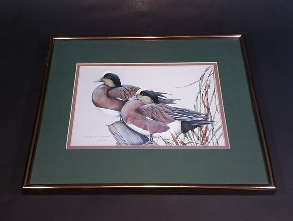 "Ducks Unlimited Artist - Art Lamay ""Whimsical Wigeons"" Framed Print - Treasure Valley Antiques & Collectibles"