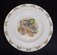 "1970s Royal Doulton English Fine Bone China Bunnykins ""Dressup Time"" 8"" Plate - Treasure Valley Antiques & Collectibles"