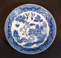 1940s Blue Willow Ware Japan Teacup Saucer Plate - Treasure Valley Antiques & Collectibles