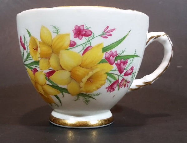 1970s Delphine Bone China Yellow Daffodils Teacup - Treasure Valley Antiques & Collectibles