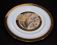 Vintage The Art of Chokin Hummingbird Plate 24KT Gold with Silver - Treasure Valley Antiques & Collectibles
