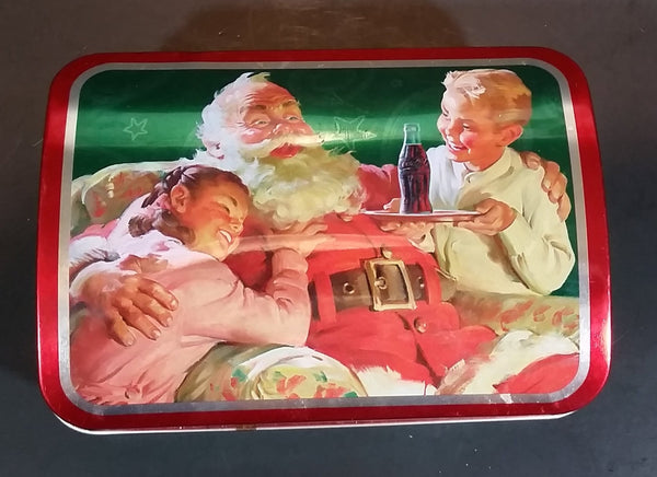 2002 Coca-Cola Coke Santa Holiday Joy Hudson's Bay Collectible Hinged Tin - Treasure Valley Antiques & Collectibles