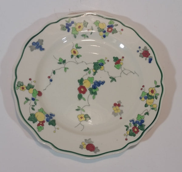 "Antique c. 1928-1931 Royal Doulton Pattern D4740 Art Deco 8.5"" Floral Plate - Treasure Valley Antiques & Collectibles"