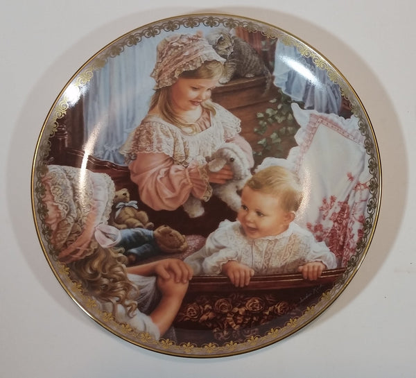 "1995 Sandra Kuck Moments at Home Collection ""Moments of Love"" Limited Edition Collector Plate"