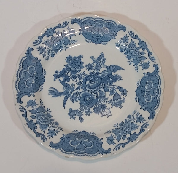"1960s Blue and White Ridgway Staffordshire England ""Windsor"" Pattern 7 1/2"" Side Plate"