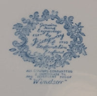 "1960s Blue and White Ridgway Staffordshire England ""Windsor"" Pattern 7 1/2"" Side Plate - Treasure Valley Antiques & Collectibles"