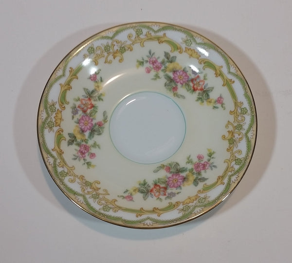 c. 1963 Noritake China Pattern 631 Lolita Flowers with Gold Trim Teacup Saucer - Japan - Treasure Valley Antiques & Collectibles