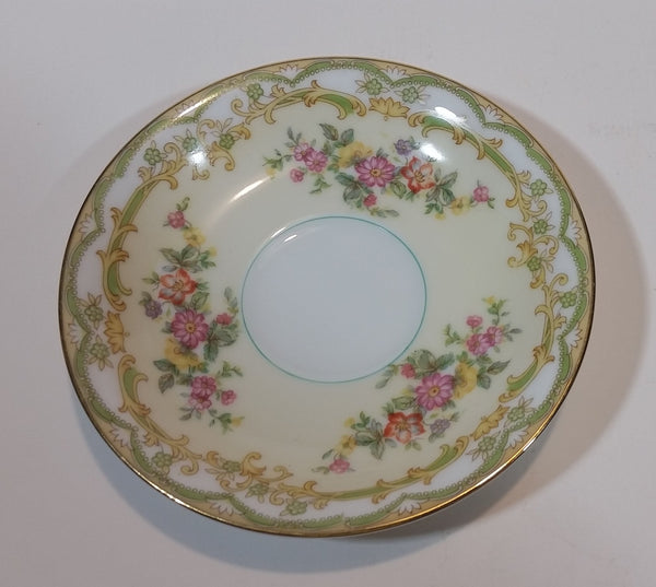 c. 1963 Noritake China Pattern 631 Lolita Flowers with Gold Trim Teacup Saucer - Japan