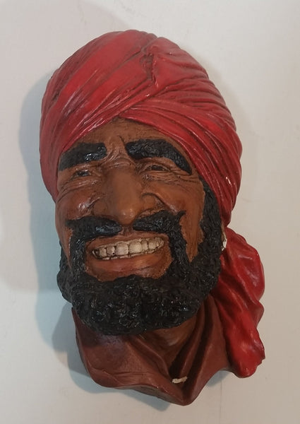 Vintage Punjabi Chalkware Copy - Unsigned Wire Loop Back - Treasure Valley Antiques & Collectibles