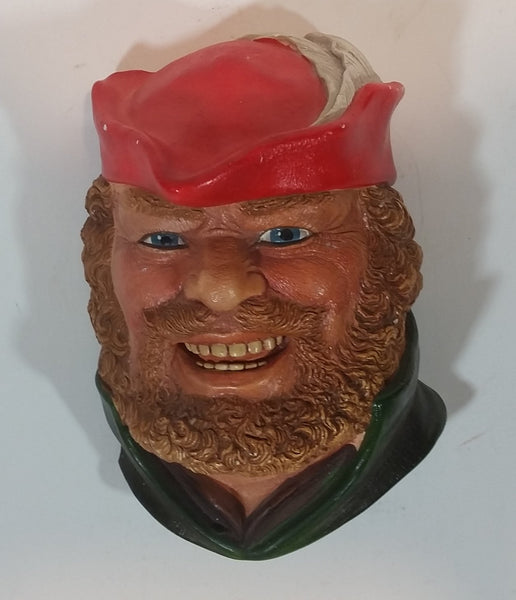 "1981 Legend Products England ""Little John"" Head Face - Robin Hood Series - Wall Decor Chalkware - Treasure Valley Antiques & Collectibles"
