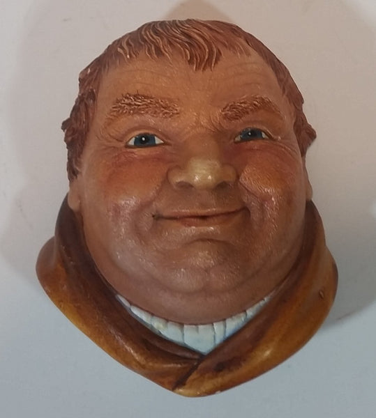 "1981 Legend Products England ""Friar Tuck"" Head Face - Robin Hood Series - Wall Decor Chalkware"