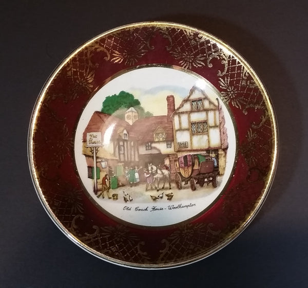 "Vintage Weatherby Hanley England Royal Falcon Ware ""Old Coach House"" Woolhampton 4"" Plate - Treasure Valley Antiques & Collectibles"