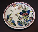 "Antique 1870s GIEN Rouen Faience Collection ""Horn of Plenty "" with a Bird 4 3/4"" Plate - Treasure Valley Antiques & Collectibles"