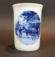 1984 Steege B.V. Delft Blauw Hand Decorated in Holland Windmill Dutch Horse Scene Mug Cup - Treasure Valley Antiques & Collectibles