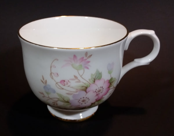1950s Sadler Wellington Fine Bone China Light Purple and Pink Floral Teacup - Made in England