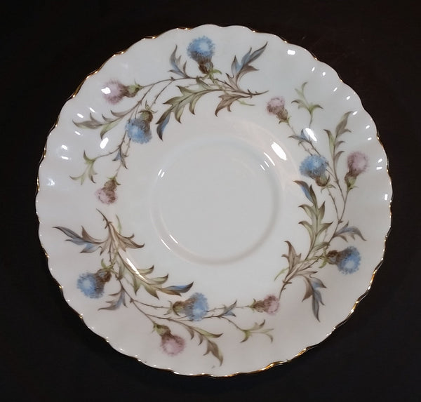 Vintage Royal Albert Bone China England Light Blue Pink Wild Flower Brigadoon Pattern Teacup Saucer - Treasure Valley Antiques & Collectibles