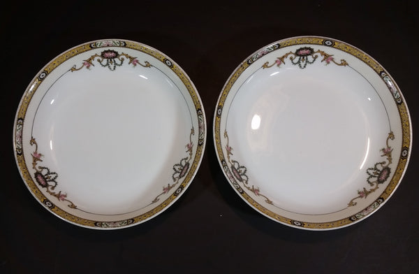 "Antique 1926 Noritake Moriumura Bros. Delmonte Pattern 7 1/2"" Bowl Set of 2 - US Design Patent 71426 - Treasure Valley Antiques & Collectibles"