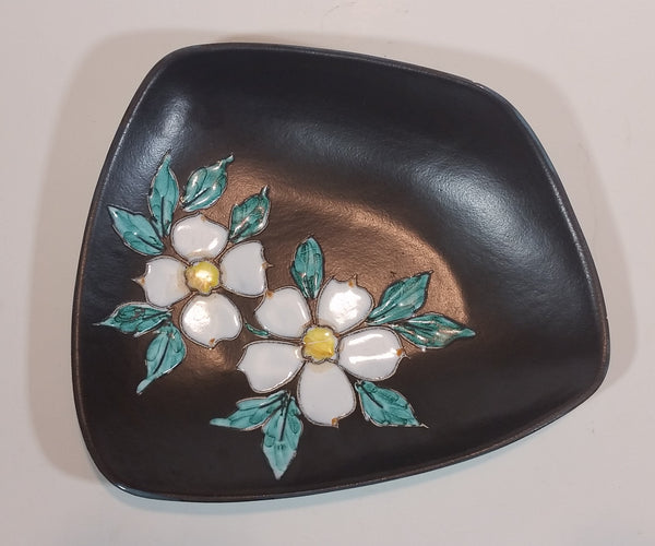1960s Signed Herta Gertz Vancouver, B.C. Pottery Dogwood Flower Pattern 7088 Candy Dish - Treasure Valley Antiques & Collectibles