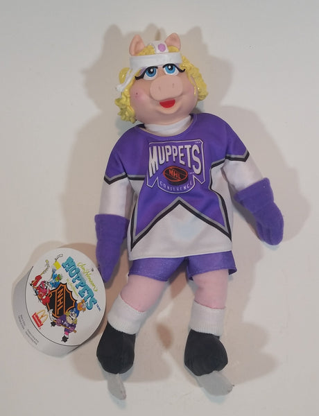1995 Jim Henson's Muppets Miss Piggy McDonald's NHL Hockey Collectible Plush Doll Toy with Tags - Treasure Valley Antiques & Collectibles