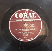 "1958 The McGuire Sisters ""Ding Dong"" (Kenny Jacobson-Rhoda Roberts) & ""Since You Went Away To School"" (Norman Petty) 10"" 78RPM Record"