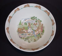 "1970s Royal Doulton English Fine Bone China Bunnykins ""Picnic"" 6"" Cereal Bowl - Treasure Valley Antiques & Collectibles"