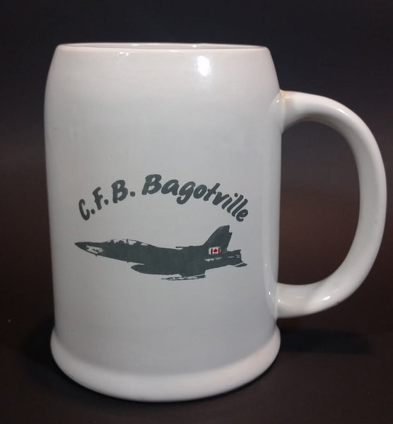 Vintage Canadian Forces Base C.F.B. Bagotville Quebec Royal Canadian Air Force Fighter Jet Stoneware Stein Mug - Treasure Valley Antiques & Collectibles