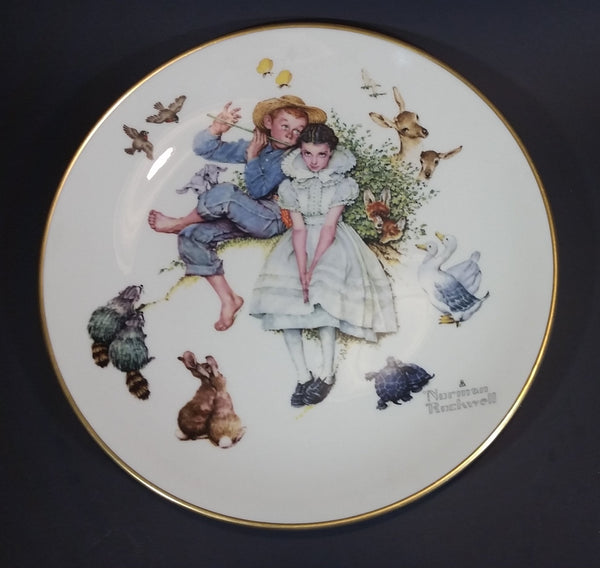 1973 Norman Rockwell Gorham Fine China - Four Seasons Series for 1955 - Spring - Sweet Song So Young Collectible Plate - Treasure Valley Antiques & Collectibles