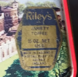 Very Rare Antique Riley's Assorted Toffee Tin with Scenery of Tower Bridge in London England - Treasure Valley Antiques & Collectibles