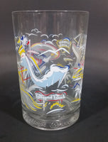 "1996 Walt Disney World 25th Anniversary Goofy Character Collectible Clear Glass 5"" Cup - Treasure Valley Antiques & Collectibles"