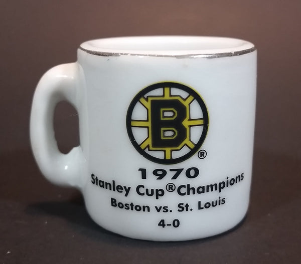 NHL Stanley Cup Crazy Mini Mug Boston Bruins 1970 Champs With Opponent & Score - Treasure Valley Antiques & Collectibles