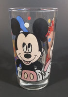 "1980s Anchor Hocking Disney Mickey Mouse Minnie Mouse Donald Duck Clear Glass 4 1/2"" Juice Cup - Treasure Valley Antiques & Collectibles"