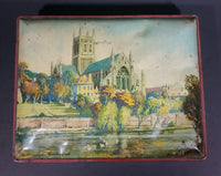 "1940s ""Blue Bird"" Toffee Worcester Cathedral Tin - Harry Vincent Ltd. Hunnington Worcestershire England - Treasure Valley Antiques & Collectibles"