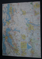 1976 Shell's Bicentennial Map of the Northwest Washington, Oregon N. Cali, Idaho, Montana, Wyoming, Utah, Colorado, Nevada