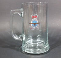 "1970s UDU Lieutenant General William Keir ""Bill"" Carr Royal Canadian Air Force Clear Glass Beer Mug - Treasure Valley Antiques & Collectibles"