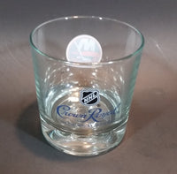 "Rare Limited Release Crown Royal ""NHL Rocks"" New York Islanders Hockey Team Clear Glass Whiskey Cup - Treasure Valley Antiques & Collectibles"
