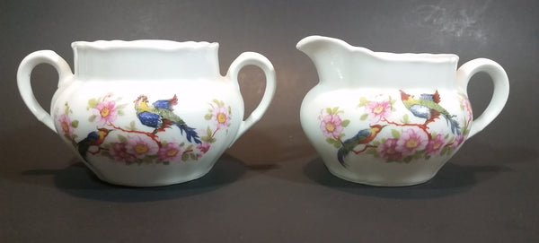 Vintage 1940s PK Unity Germany Birds of Paradise Creamer and Sugar Bowl without Lid - Numbered - Treasure Valley Antiques & Collectibles