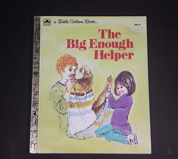 "1978 The Big Enough Helper - Little Golden Books - 208-41 - ""D"" Edition - Collectible Children's Book"