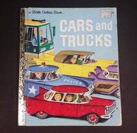 1981 Printing of Cars and Trucks - Little Golden Books - 210-57 - Collectible Children's Book - 16th Print - Treasure Valley Antiques & Collectibles