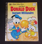 1981 Walt Disney's Donald Duck Instant Millionaire - Little Golden Books - 102-44 - Collectible Children's Book - Fifth Printing - Treasure Valley Antiques & Collectibles