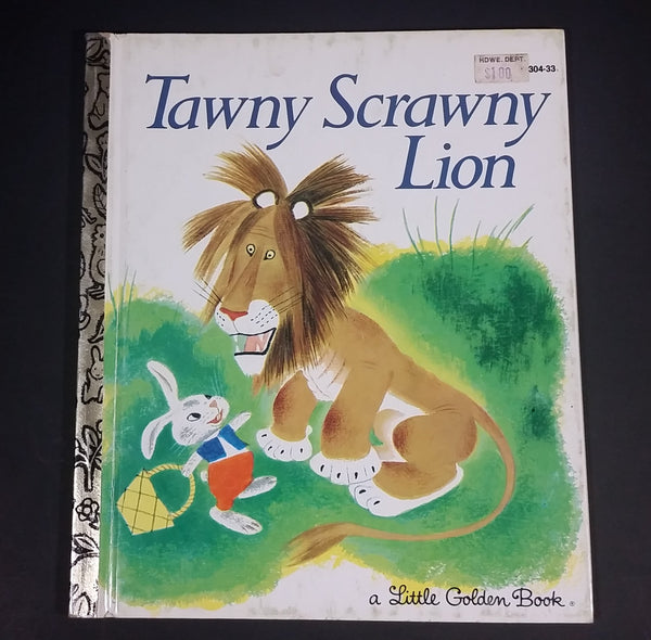 1981 Tawny Scrawny Lion - Little Golden Books - 301-33 - Collectible Children's Book - 15th Printing