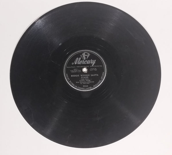 "1950 Patti Page ""Boogie Woogie Santa Claus"" & ""The Tennessee Waltz"" 10"" 78RPM Record - Treasure Valley Antiques & Collectibles"